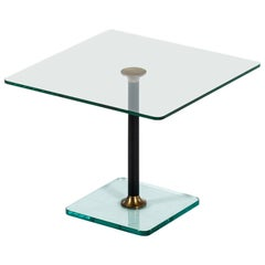 Coffee/Side Table in Glass Produced in Sweden