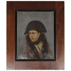 Early Oil on Canvas of a Young Napoleon