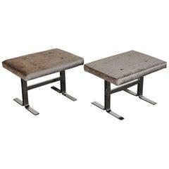 Pair of DIA Mid-Century Chrome  Benches
