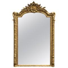 Exquisite Louis XVI Style Giltwood Mirror