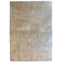 Hand Knotted Natural Mohair Rug by Groundplans
