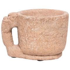 Chinese Mythical Elephant Stone Mortar