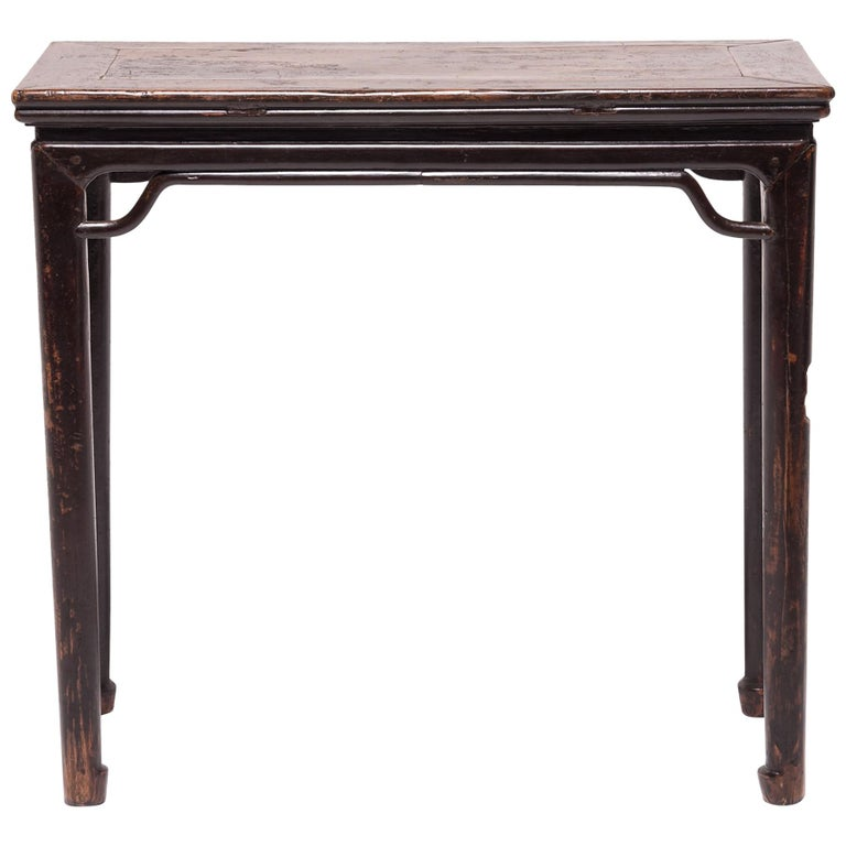 19th Century Chinese Console Table with Hoofed Feet For Sale