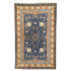 Beautiful Vintage Chinese Design French Knotted Rug
