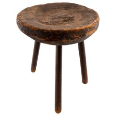 Wooden Tripod Stool 19th Century