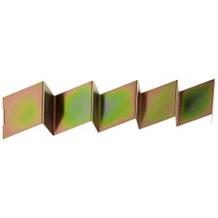 Fold Coat Rack, Iridescent Yellow Zinc, Geometric Metal Wall Hook