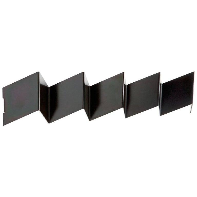 Fold Coat Rack, Iridescent Black Zinc, Geometric Metal Wall Hook For Sale