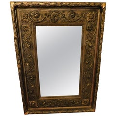 Large 18th Century Italian Gold Framed Mirror