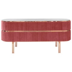 Edith Sideboard in Pink with Brass Detail by Essential Home