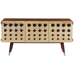 Monocles Sideboard in Wood with Brass Detail by Essential Home