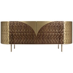 Vincent Sideboard in Wood, Brass and Marble by Essential Home