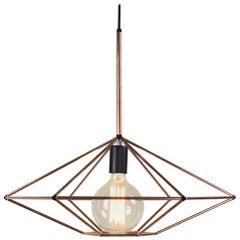 Rough Diamond Type C Copper Wire Frame Geometric Pendant Light