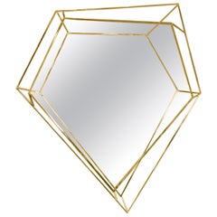 Diamond Small Mirror in Brass by Essential Home