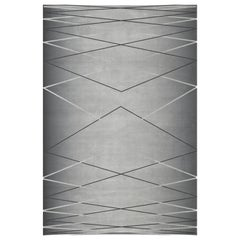 Hitchcock Rug in Gray Wool by Essential Home