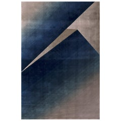 Spielberg Rug in Blue and Green Tencel by Essential Home