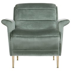 Bardot Armchair in Ash Green Velvet by Essential Home