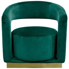 Ellen Armchair in Green Velvet by Essential Home