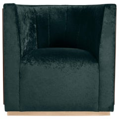 Grace Armchair in Green Crushed Velvet by Essential Home