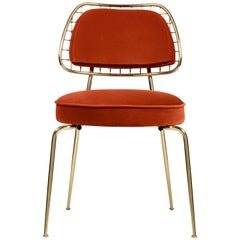 Marie Chair in Rust Orange Velvet by Essential Home