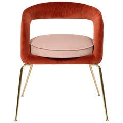 Ellen Dining Chair in Rust and Powder Pink by Essential Home