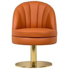 Gable Dining Chair in Soft Orange by Essential Home