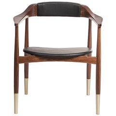 Perry Dining Chair in Leather by Essential Home