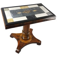 William IV Rosewood Table With Specimen Marble Top