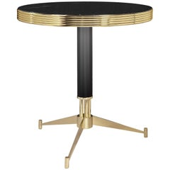 Dolly Coffee Table in Brass, Black Lacquered and Marble by Essential Home