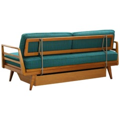 MidCentury German Extendable Beech Wood Daybed Sofa from Knoll Antimott, 1950s