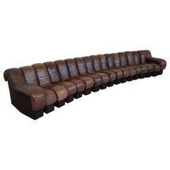 De Sede DS-600 Modular Sectional Non Stop Sofa, 1970s