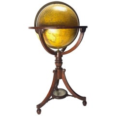 Extremely Rare English Globe by Renowned Cartographers John Newton and Son