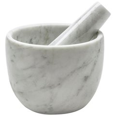 Small White Marble Mortar and Pestle