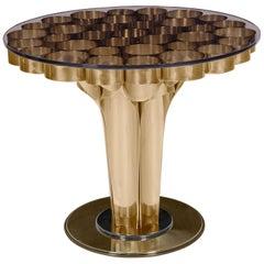 Wormley Beistelltisch aus Poliertem Messing und Klarglas von Essential Home