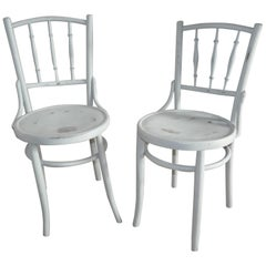 Pair of Thonet Bistro Gray Chair, circa 1900