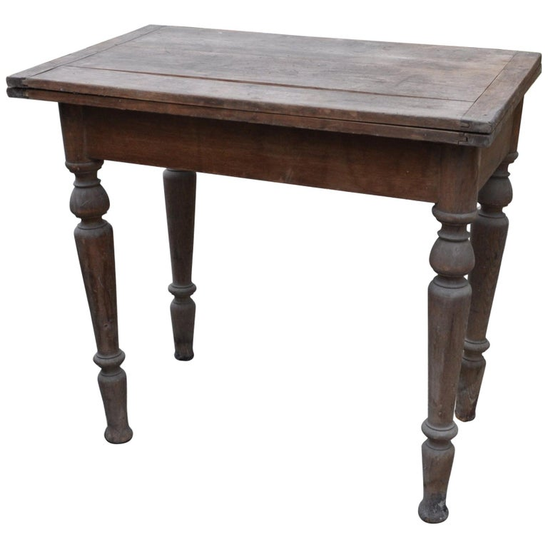 Antique Farm Table /A Top Which Pivots through 90 Degrees For Sale