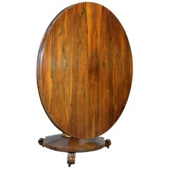 William IV Antique Breakfast Table English, Rosewood Tilt Top Dining, circa 1835
