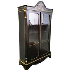Rare and Huge Vitrine Bookcase Boulle Style, Napoleon III, France, 1865