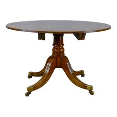 Antique Dining Table, English, Regency, Extending, Seats 4-6, Mahogany
