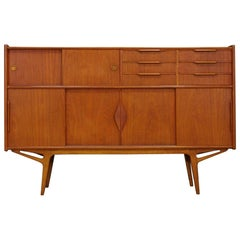 Teak Highboard Retro Vintage Danish Design