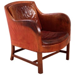 Exceptional Kaare Klint Mix Chair in Original Niger Leather