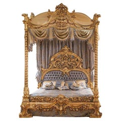 Magnificent Personalized Classical Italian Canopy Bed Frame