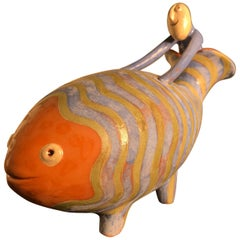 Noah & Whale Sculpture Few of a Kind Masterpiece Artisan Eva Fritz-Lindner