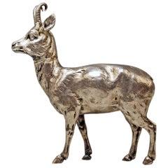 Silver 800 Chamois Animal Figurine Hanau Germany Manufactory Karl Kurz