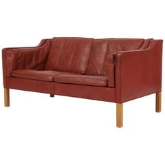 Børge Mogensen Two-Seat Sofa, Model 2212, Original Leather
