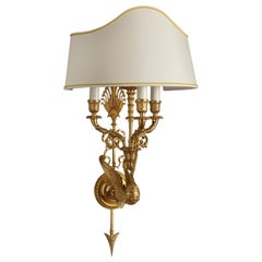 French Empire Style Gilt Bronze Wall Sconce