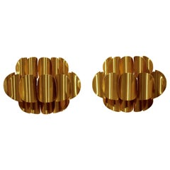 Set of 2 Brass Wall  Sconces by Werner Schou for Coronell