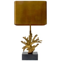 Midcentury Maison Charles Bronze Coral Table Lamp
