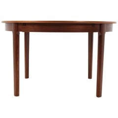1960 Danish Round Extendable Dining Table