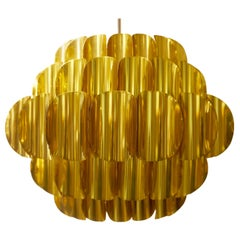 Brass Pendant by Werner Schou for Coronell Elektro