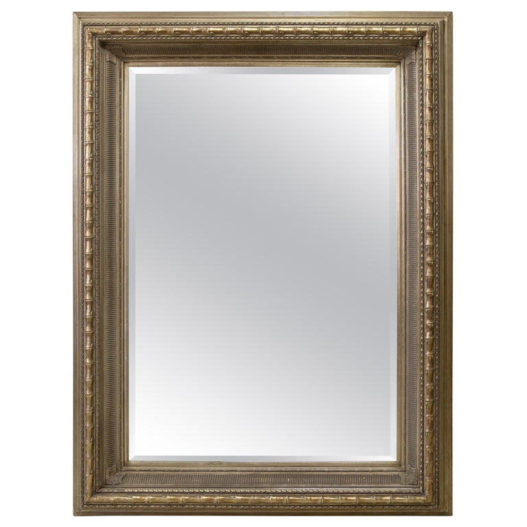 Monumental Neoclassical Style Metal Mirror For Sale
